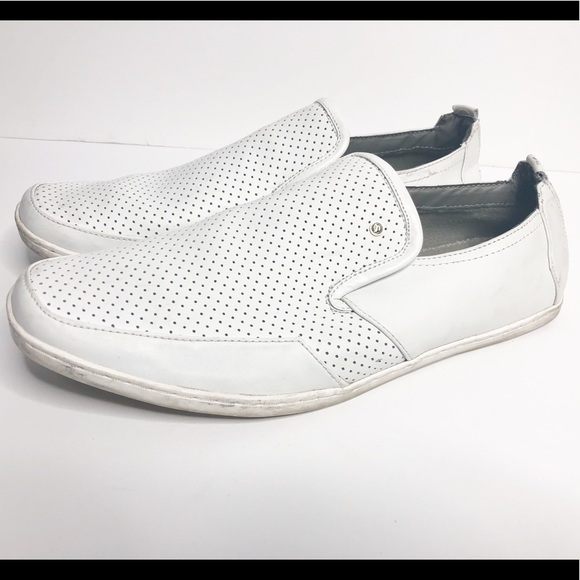 f10dbcc0f63 Steve Madden faderr 12 white slip on loafers